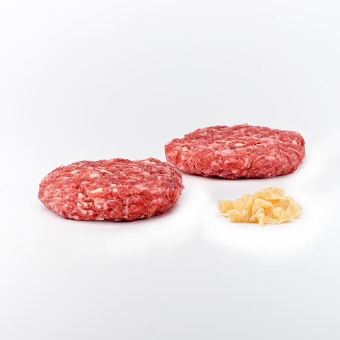 Hamburguesa grande de carrillera con queso parmesano
